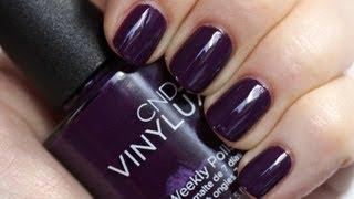 CND VINYLUX Weekly Polish - Application Tutorial&Dry Time Test