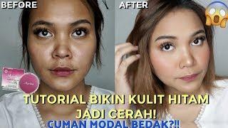 TUTORIAL BIKIN KULIT HITAM JADI CERAH CUMAN MODAL BEDAK DOANG! I Dinda Shafay (Indonesia)