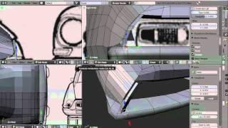 How To Model A Car In Blender 2.50 TUTORIAL Italian Version, Part 5