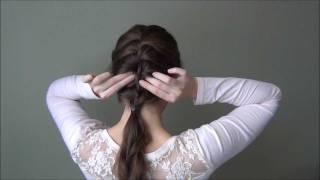 Easy Romantic Hairstyle: Loose French Braid For Valentine's Day Tutorial For Medium Or Long Hair