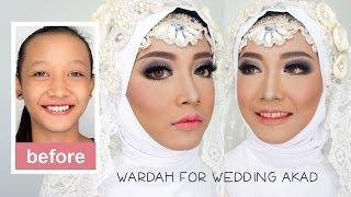 Tutorial Makeup dan Hijab Pengantin Muslim Akad menggunakan Wardah Kosmetik Halal