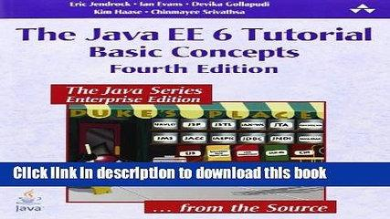 Books The Java EE 6 Tutorial: Basic Concepts (4th Edition) Free Download