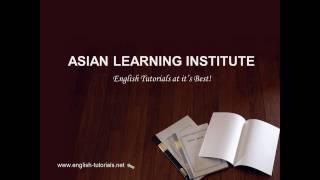 English Tutorial (www.english-tutorials.net)
