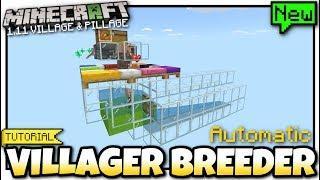 Minecraft Bedrock - 1.11 VILLAGER BREEDER ( Automatic )[ Redstone Tutorial ] MCPE / Xbox / Switch