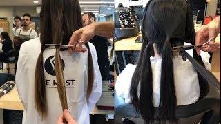 Amazing Long Hair Cutting Techniques - Hair Cutting Tutorial Compilation