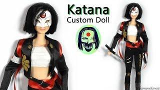 Katana ( Suicide Squad ) Barbie / Doll  Repaint Tutorial