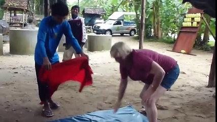Funny Elephant Massage in Thailand compilation