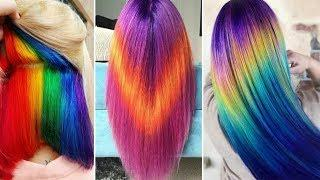 Amazing HAIRSTYLES TUTORIAL - Amazing Hair Color Transformations