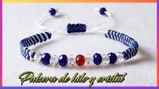 COMO HACER TUS PROPIAS PULSERAS DE HILO EN MACRAME / TUTORIAL DE PULSERAS DE HILO / DIY
