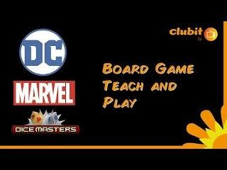 Marvel and DC Dice Masters Card Game Teach & Play Tutorial