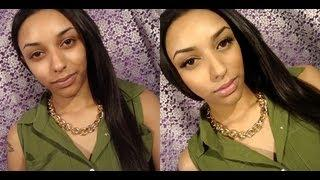 Before&After No Makeup Makeup Look Tutorial