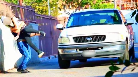 Stealing Girls with Truck Prank