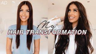 MY HAIR TRANSFORMATION! New Extensions + Loose Curls Tutorial