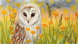 Easy Owl Watercolor Painting Tutorial for Beginners