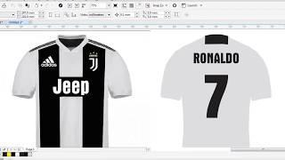 T-Shirt Design Tutorial #1: Cristiano Ronaldo CR7 Juventus T Shirt - Football T-Shirt Design