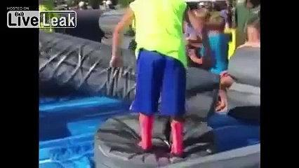 Funny video Kid Fails At Obstacle Course