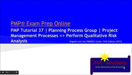 PMP® Exam Prep Online, PMP Tutorial 37 | Planning Process Group | Perform Qualitative Risk Analysis