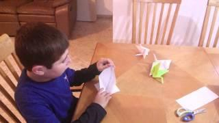 Tutorial Origami Crane (Hebrew)