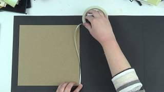 Stamperia 9x9 Alice Mini Album Tutorial Part 1: Creating the Book, Binding, and Pocket Page