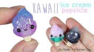How to DIY Kawaii Ice cream Swirl Popsicle Polymer Clay/Resin Tutorial