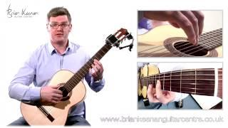Spanish Romance (Romanza) Classical Guitar Lesson&Tutorial With Brian Keenan PART 1/4