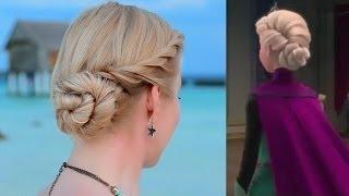 Elsa's Hair Tutorial; Coronation Updo Hairstyle, Frozen