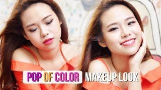 MAYBELLINE Pop Of Color Makeup Look | One Brand Tutorial | Molita Lin