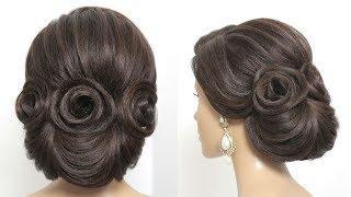 Trendy Bridal Updo. Wedding  Hairstyle For Long Medium Hair Tutorial