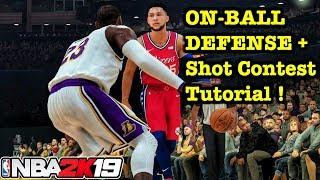 NBA 2K19 On Ball Defense Tutorial How to Shot Contest + Defend Dribble Animations 2K19 Tips #11