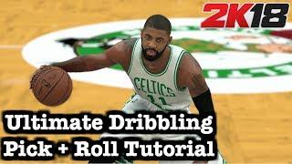 NBA 2K18 Ultimate Dribble Moves + Pick & Roll Tutorial: How to do momentum crossover in Pick n Roll