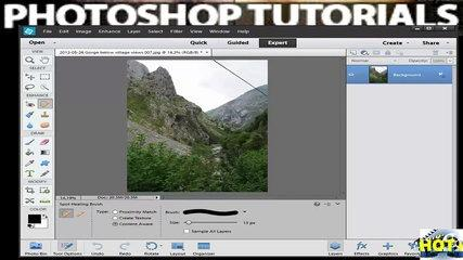 Tutorial Photoshop Elements 12_ How to Remove Spots and Imperfections Using the Healing Brush Tool
