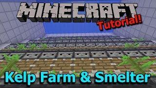 Minecraft 1.13: Automatic Kelp Farm and Efficient Dried Kelp Block Smelter [Tutorial]