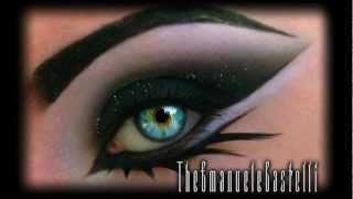 Arabic Black Smoky Eyes With Glitter - Dramatic Make Up Tutorial Ft Illamasqua