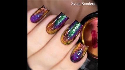 Cracked Nail Art &  Money Nail Art - Video Nail Art Tutorial