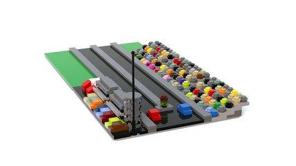 LEGO Microscale Drag Racing Scene Tutorial