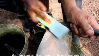 Tutorial :how To Sharpen A Rubber Tapping Knife (thai Version)วิธีการกรีดยางมีดกรีด