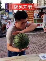 funny watermelon challenge