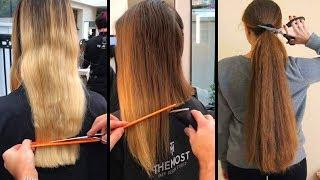 Top 10 Amazing Long Hair Cutting Tutorials!Long  To Short Hairstyle Transformations 2019