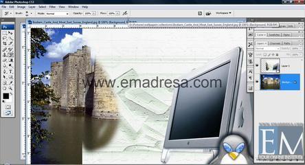 History Brush Tool Basic Photoshop Tutorials In URDU, Hindi By Emadresa