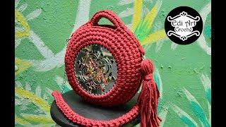 Bolsa Mafalda tutorial com fio de malha - Bag crochet - Mandala - Boho - DIY | Edi Art Crochê