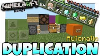 Minecraft - DUPLICATION GLITCH( Deluxe Machine)[ Tutorial ] MCPE / Xbox / Bedrock / Switch