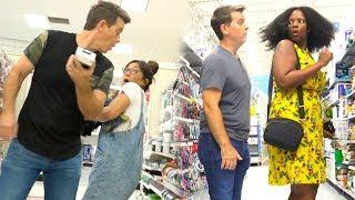 Sneaking Up On People - SCARING PEOPLE OF WALMART! - Funny Prank