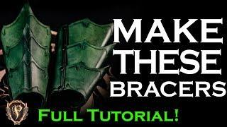 ⚔️ Fantasy Leather Bracers Arm Armour Full Tutorial ⚔️