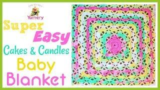 Super Easy Lacy Crochet Baby Blanket - Cakes & Candles Pattern Tutorial