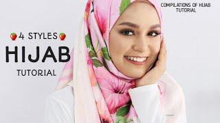 3 STYLES|| LATEST|| MOST GORGEOUS & SWEETS|| HIJAB SQUARE TUTORIAL|| WEDDING||