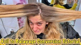 Foil to Balayage Conversion Tutorial