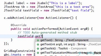 Learn Java Tutorial 1.36- Getting Text And Setting Text