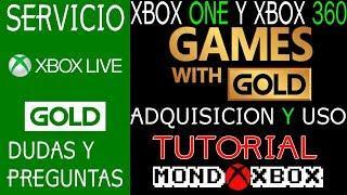 Xbox live y Games With Gold, tutorial y forma de canjear juegos de Xbox One y 360 |MondoXbox