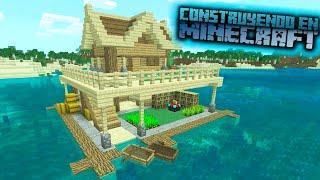 Como hacer una casa flotante para survival en minecraft tutorial