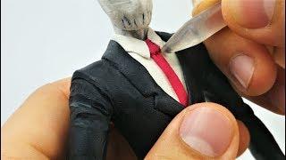 Como Hacer a SLENDER MAN de Plastilina Creepypasta Tutorial | Making SLENDERMAN in Clay Tutorial